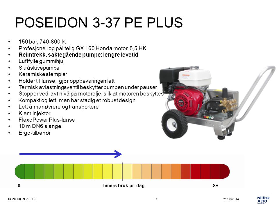 POSEIDON 3-37 PE PLUS 150 bar, 740-800 l/t