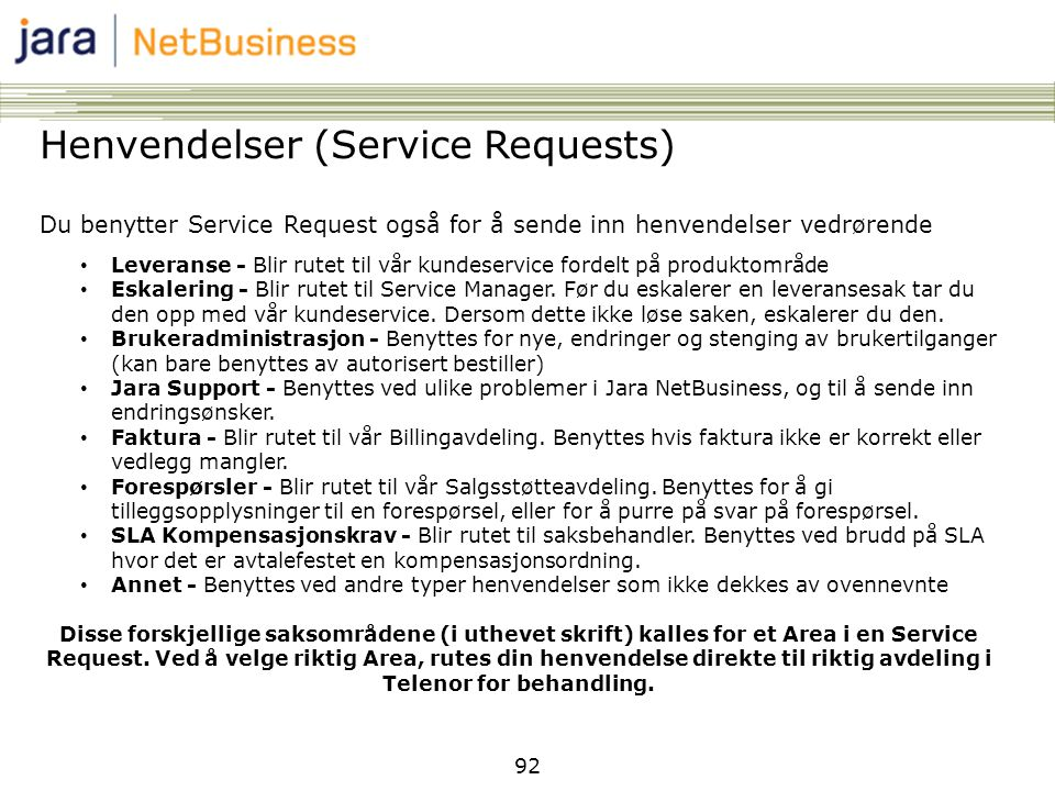 Telenor for behandling.