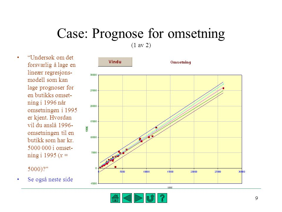 Case: Prognose for omsetning (1 av 2)