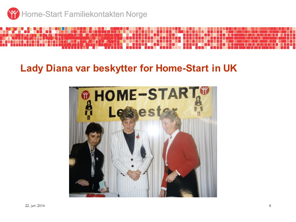 Lady Diana var beskytter for Home-Start in UK