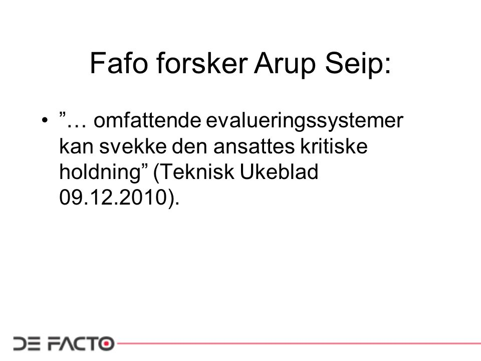 Fafo forsker Arup Seip: