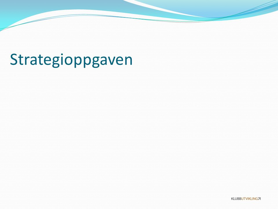 Strategioppgaven