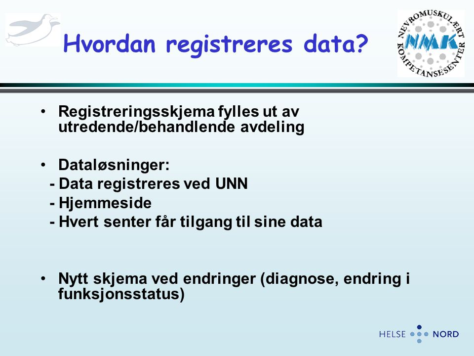 Hvordan registreres data