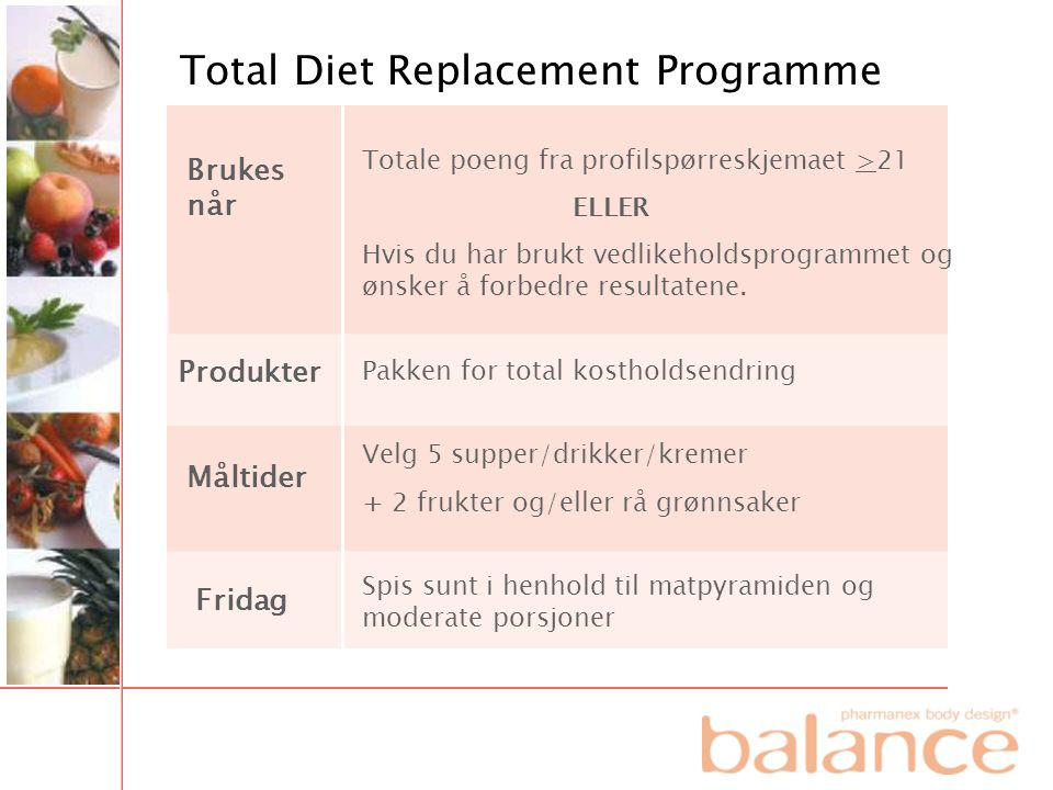 Total Diet Replacement Programme
