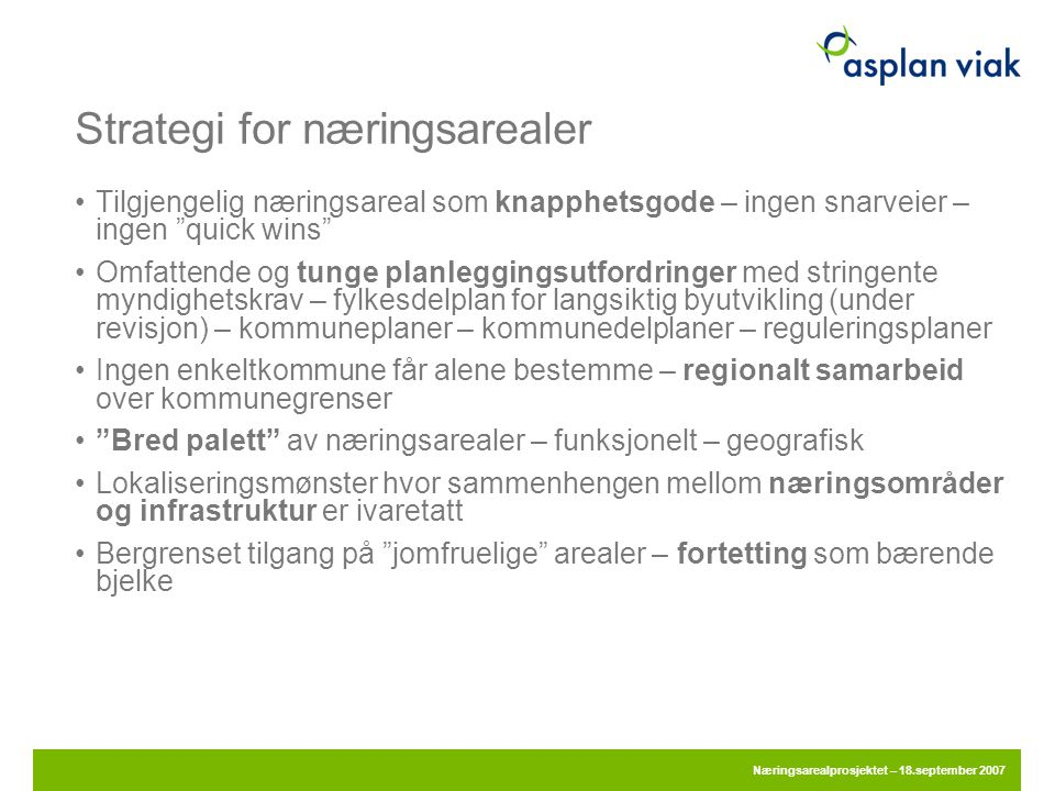 Strategi for næringsarealer