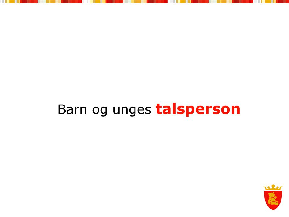 Barn og unges talsperson