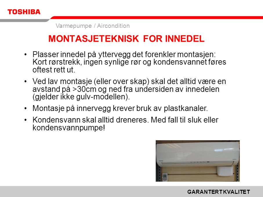 MONTASJETEKNISK FOR INNEDEL
