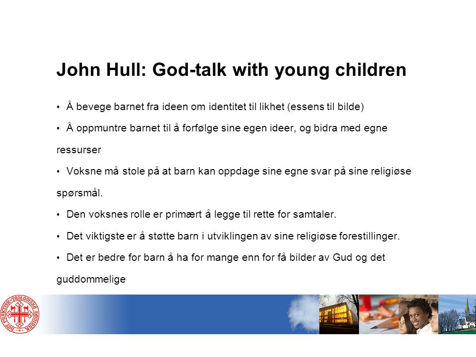John Hull: God-talk with young children
