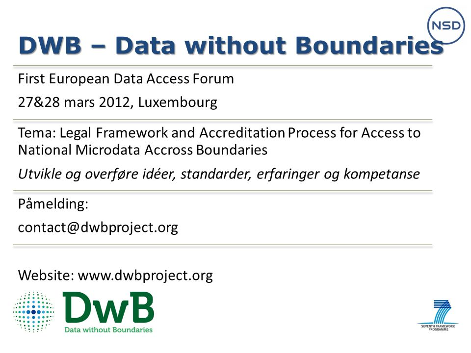 DWB – Data without Boundaries