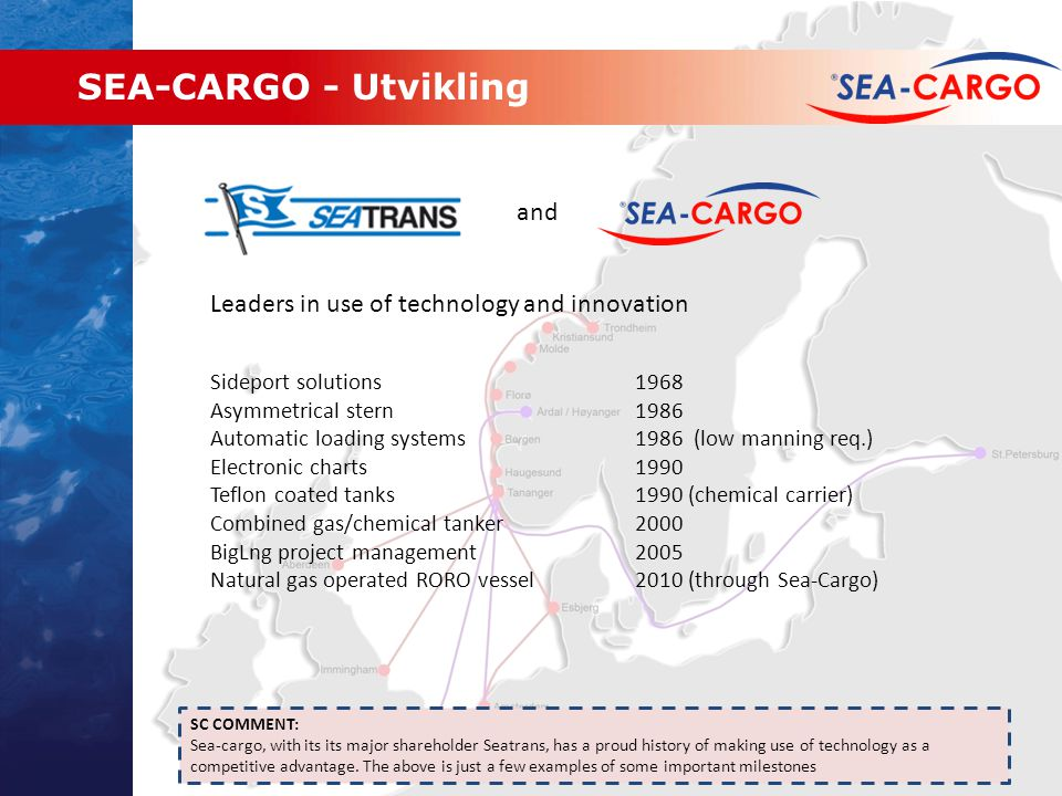 SEA-CARGO - Utvikling and Leaders in use of technology and innovation