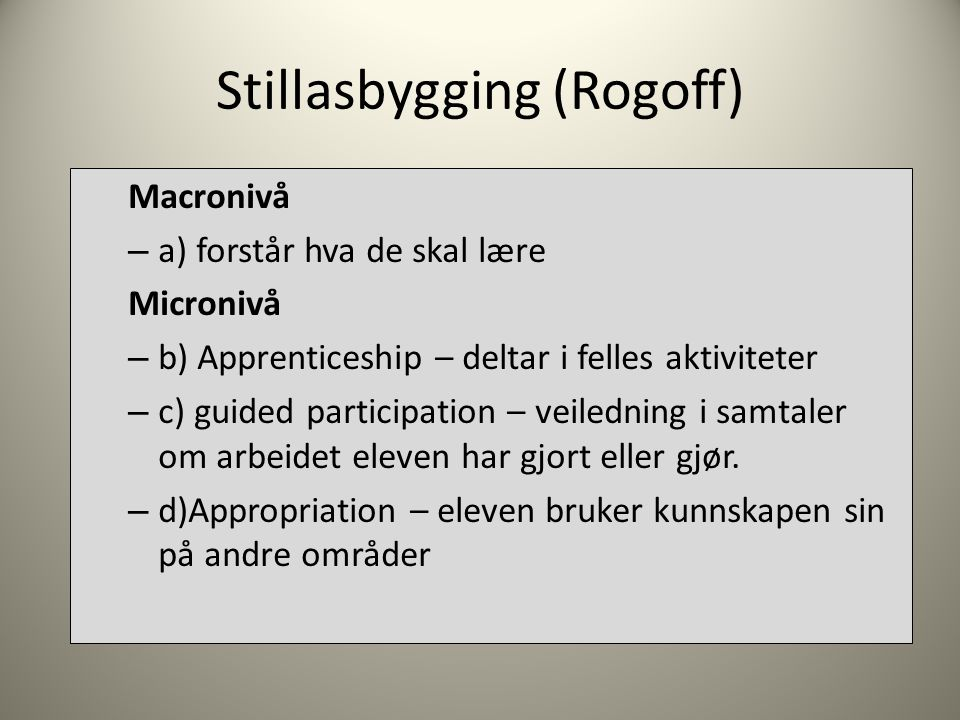 Stillasbygging (Rogoff)