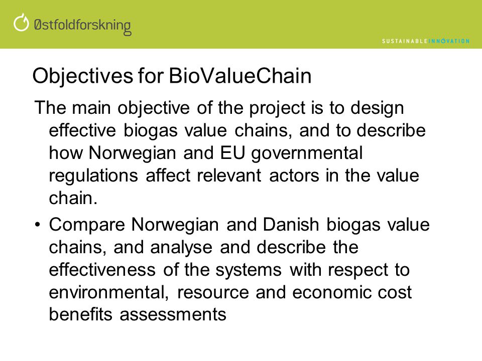 Objectives for BioValueChain