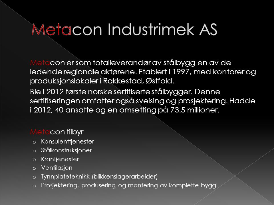 Metacon Industrimek AS