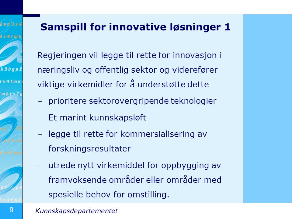 Samspill for innovative løsninger 1
