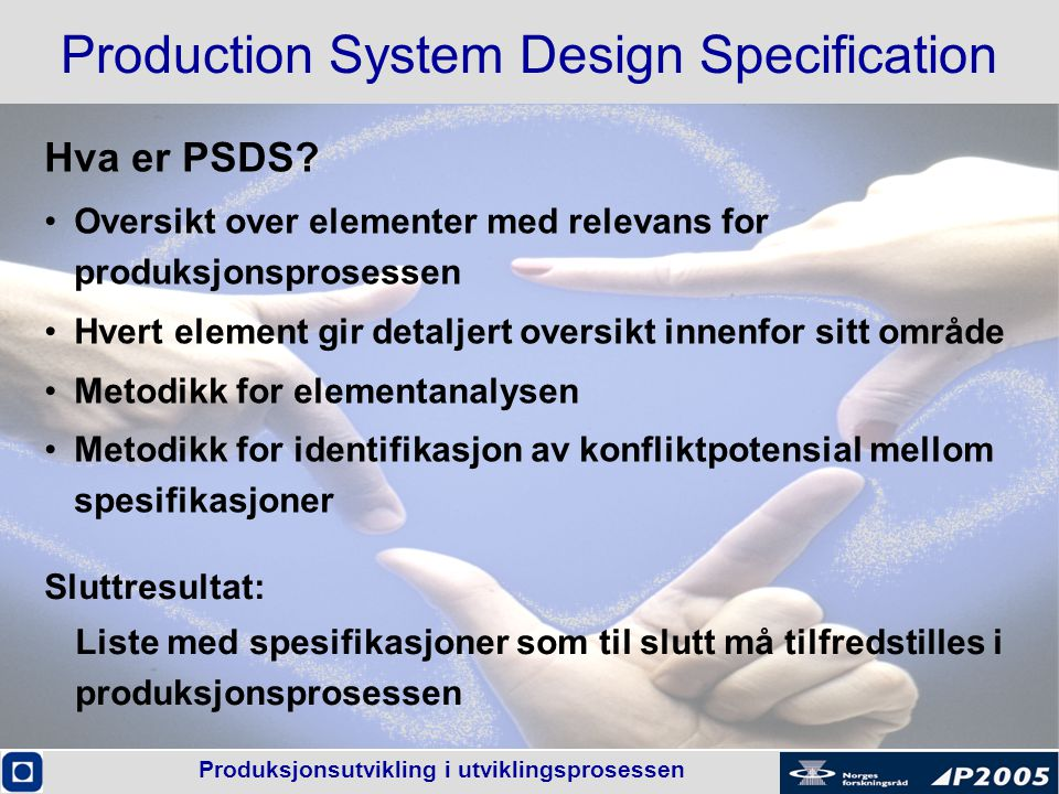 Production System Design Specification