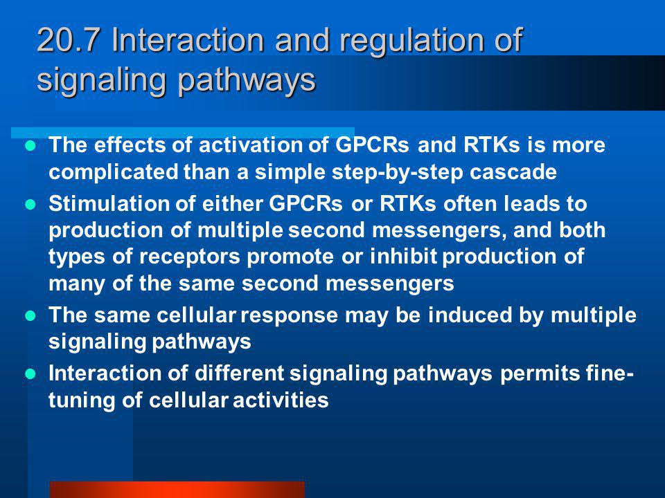 20.7 Interaction and regulation of signaling pathways