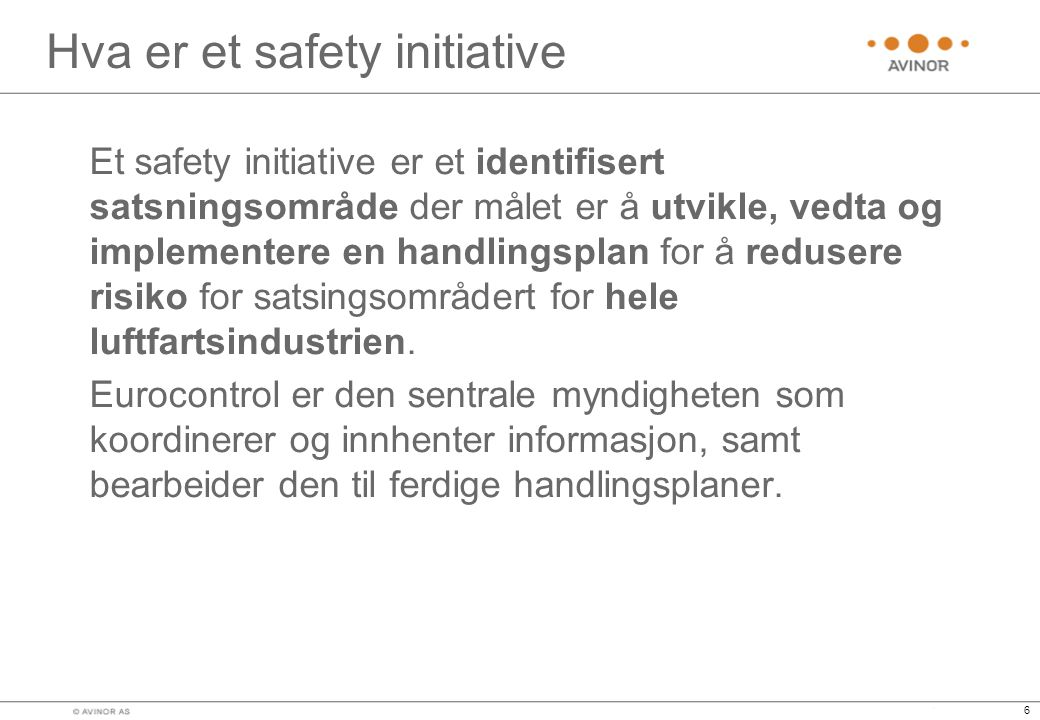 Hva er et safety initiative