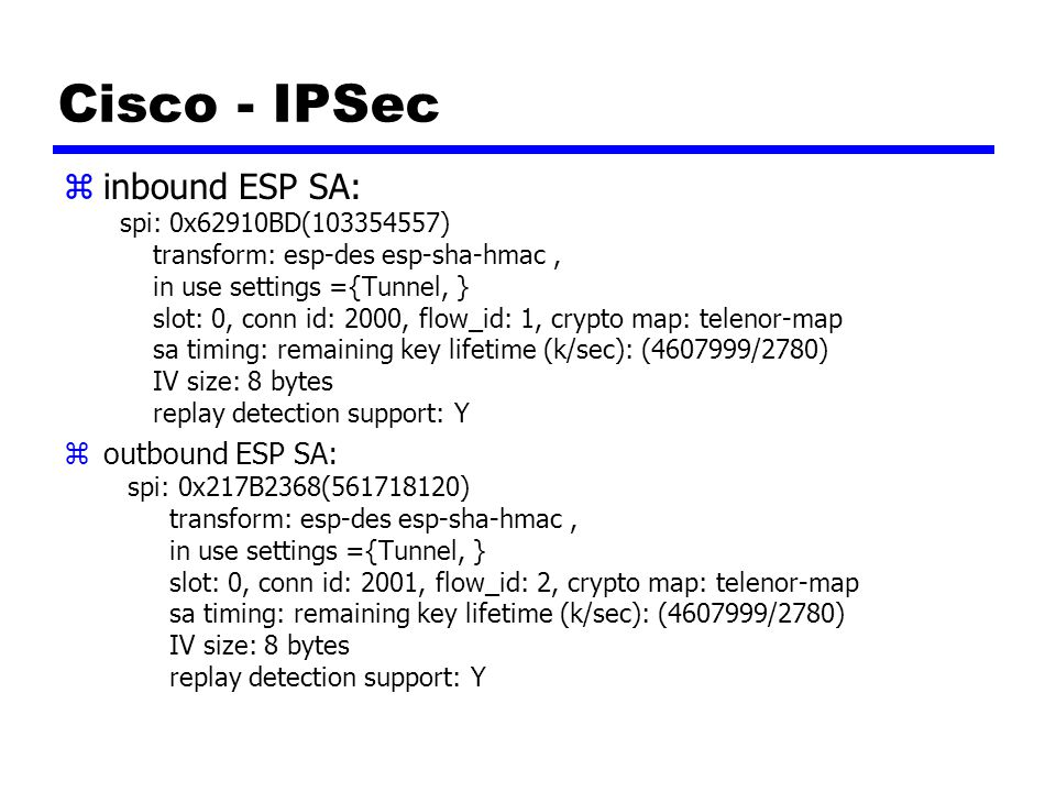 Cisco - IPSec