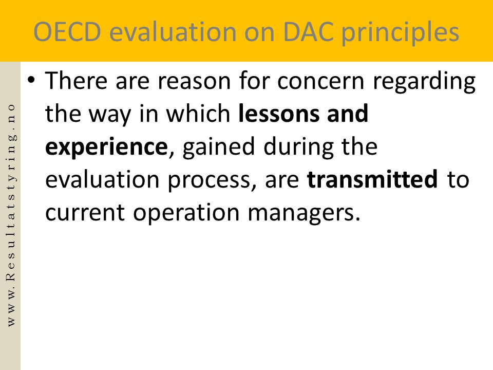 OECD evaluation on DAC principles