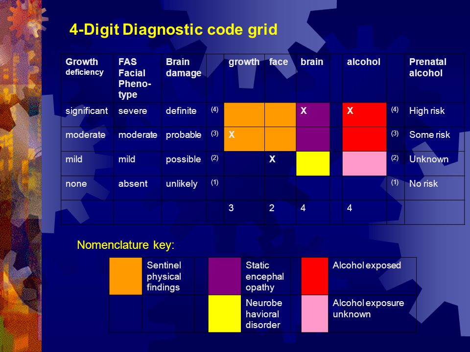 4-Digit Diagnostic code grid