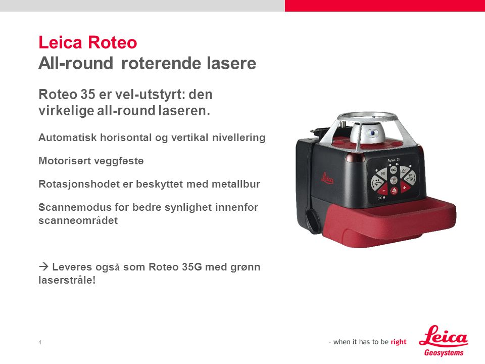 Leica Roteo All-round roterende lasere