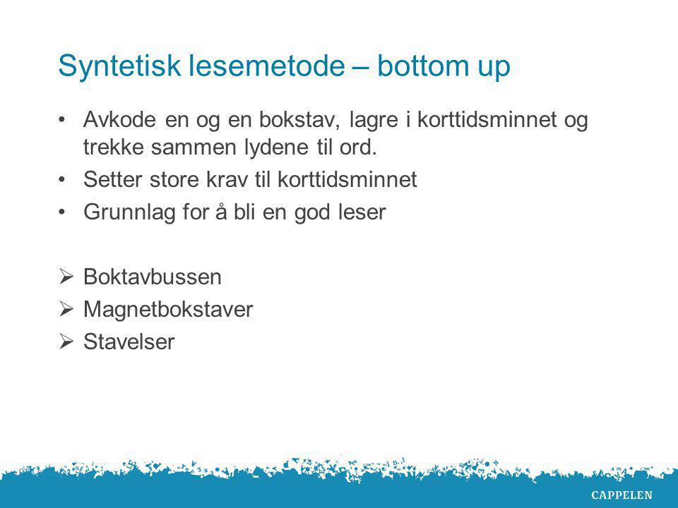 Syntetisk lesemetode – bottom up