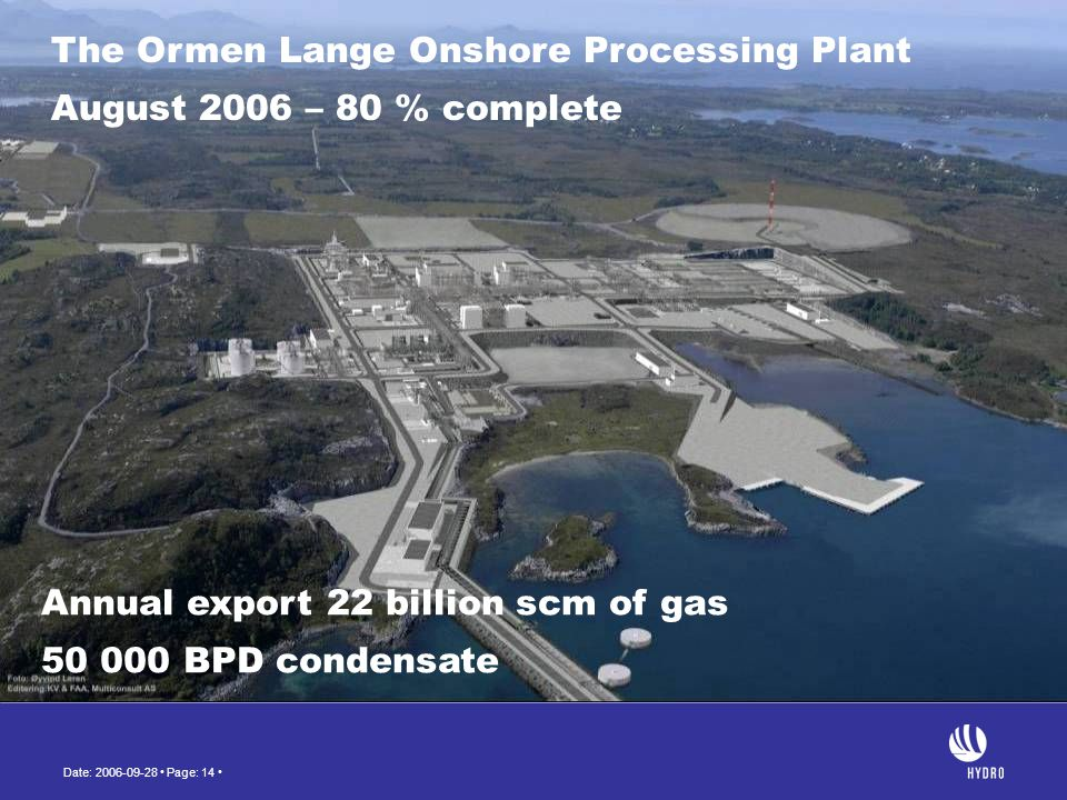 The Ormen Lange Onshore Processing Plant