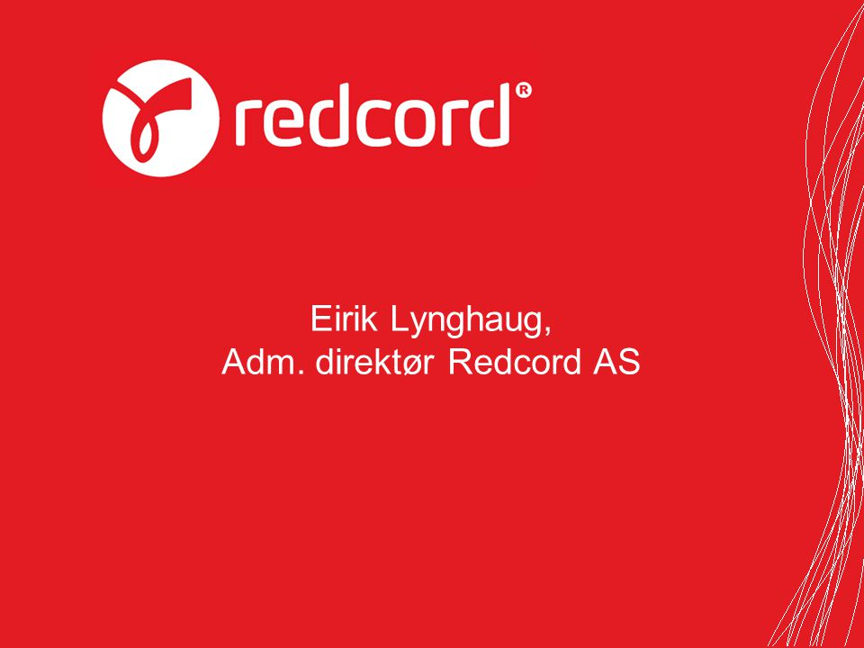 Adm. direktør Redcord AS
