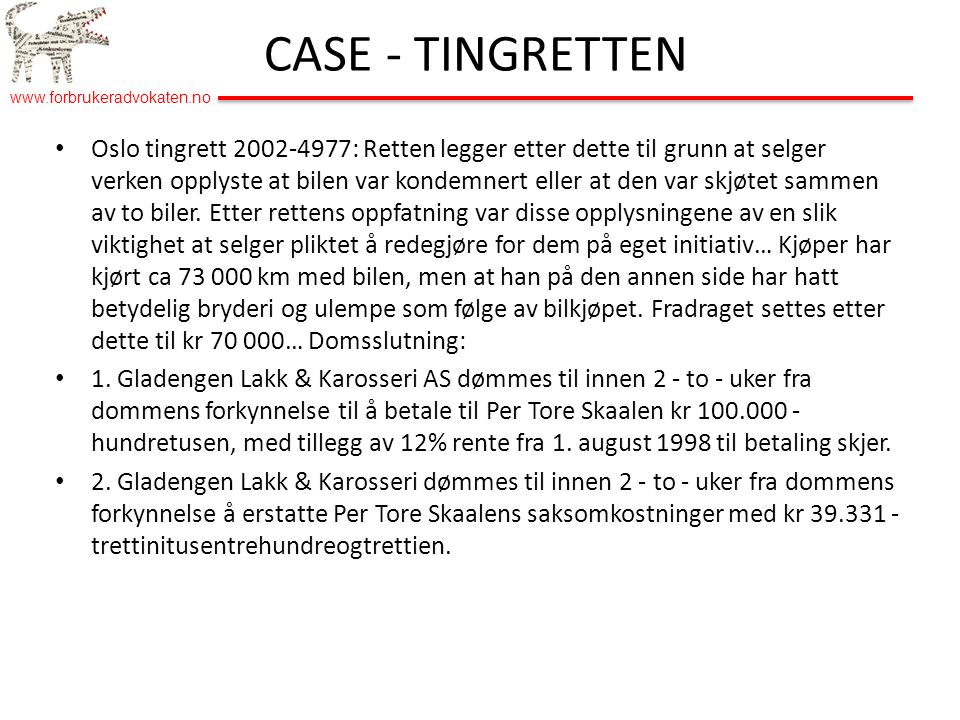 CASE - TINGRETTEN