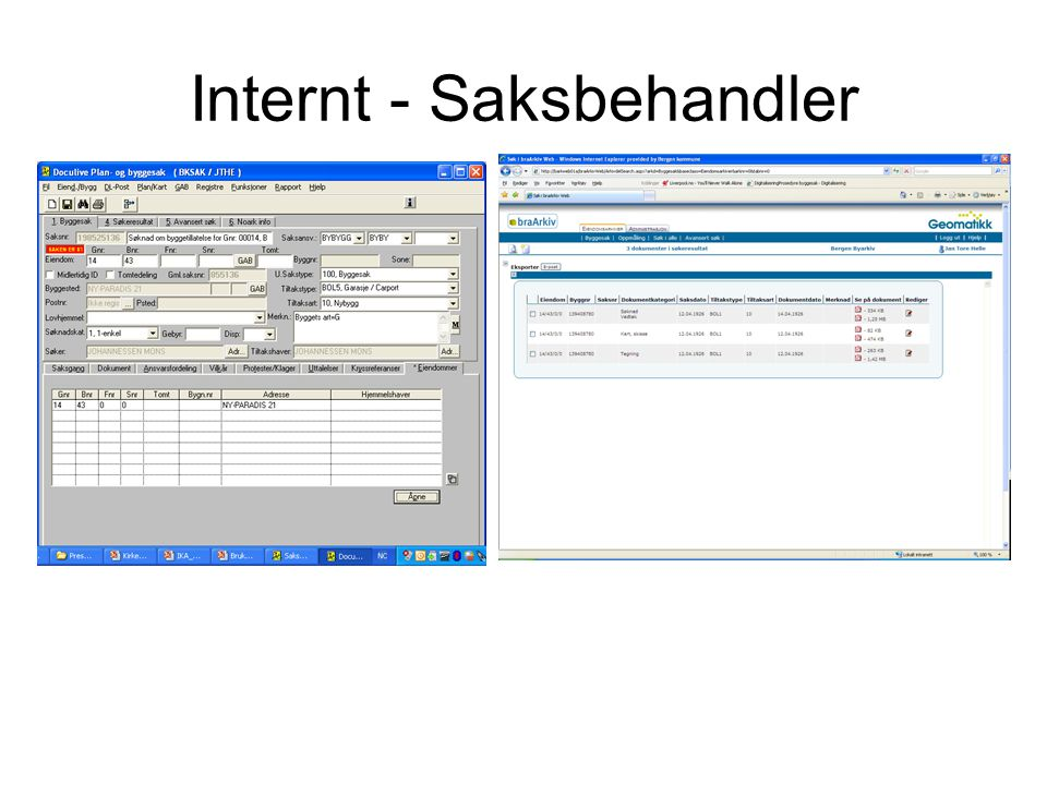 Internt - Saksbehandler