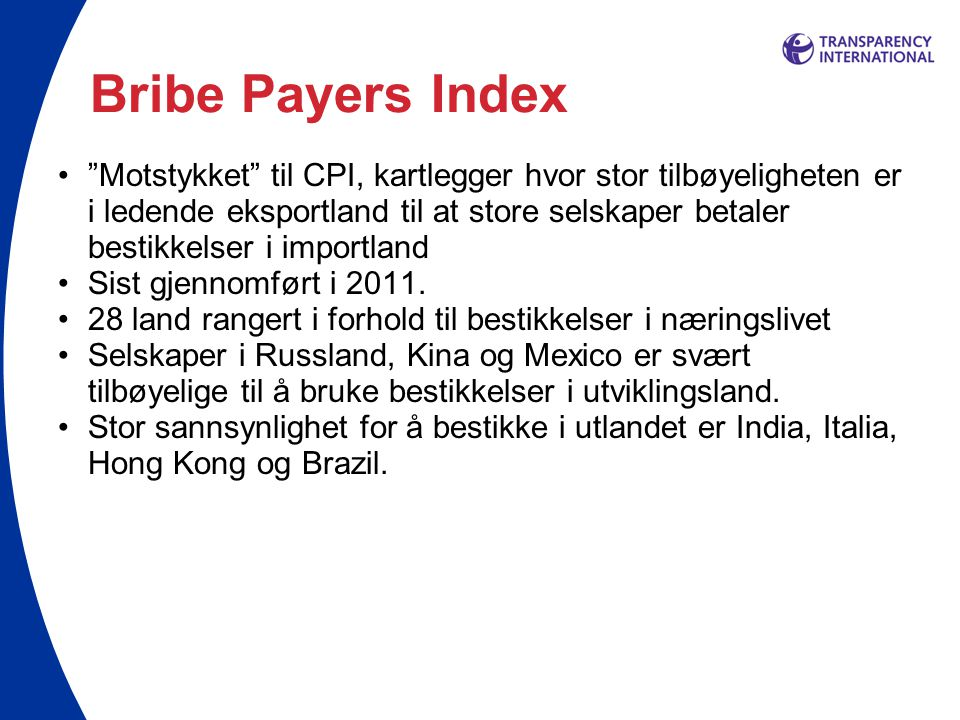Bribe Payers Index