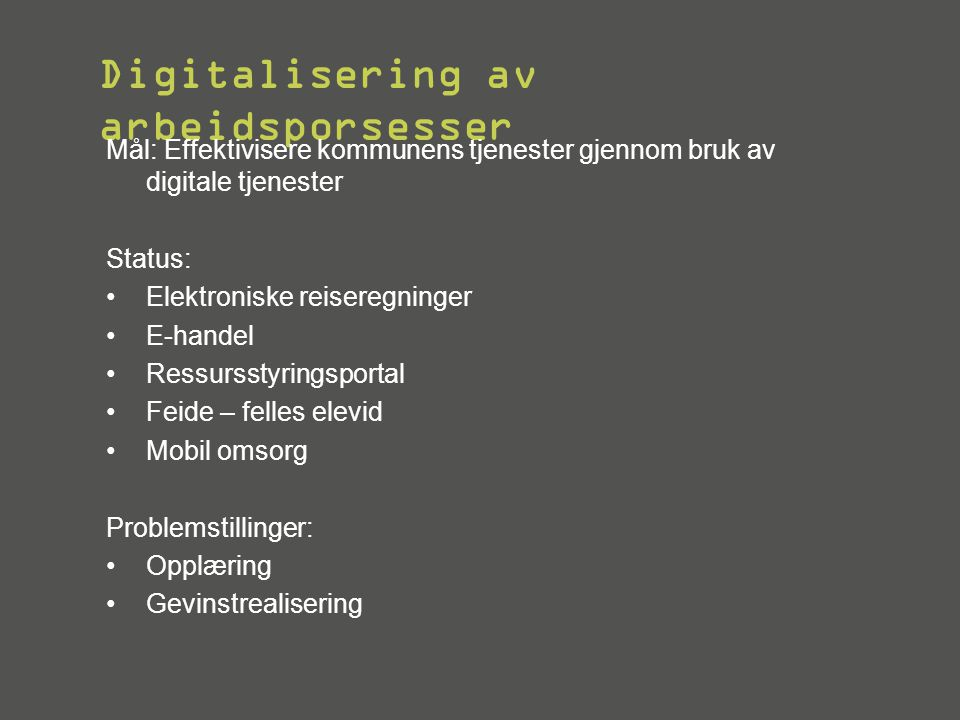Digitalisering av arbeidsporsesser