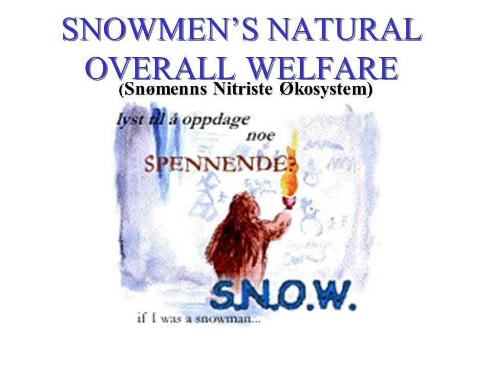 SNOWMEN'S NATURAL OVERALL WELFARE