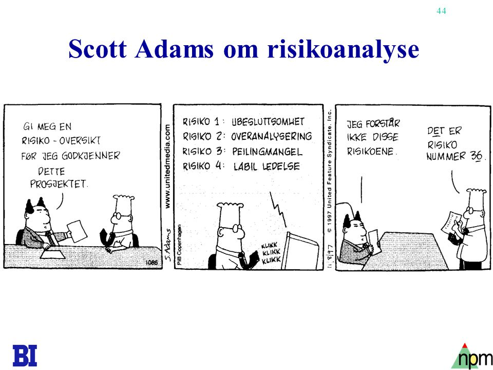 Scott Adams om risikoanalyse