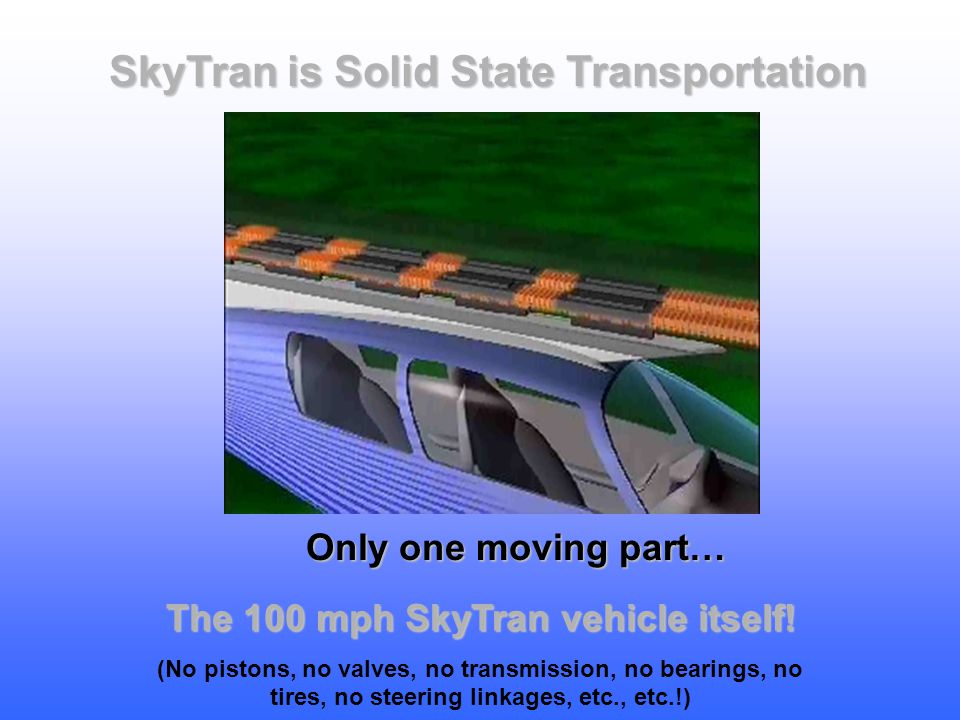 SkyTran is Solid State Transportation