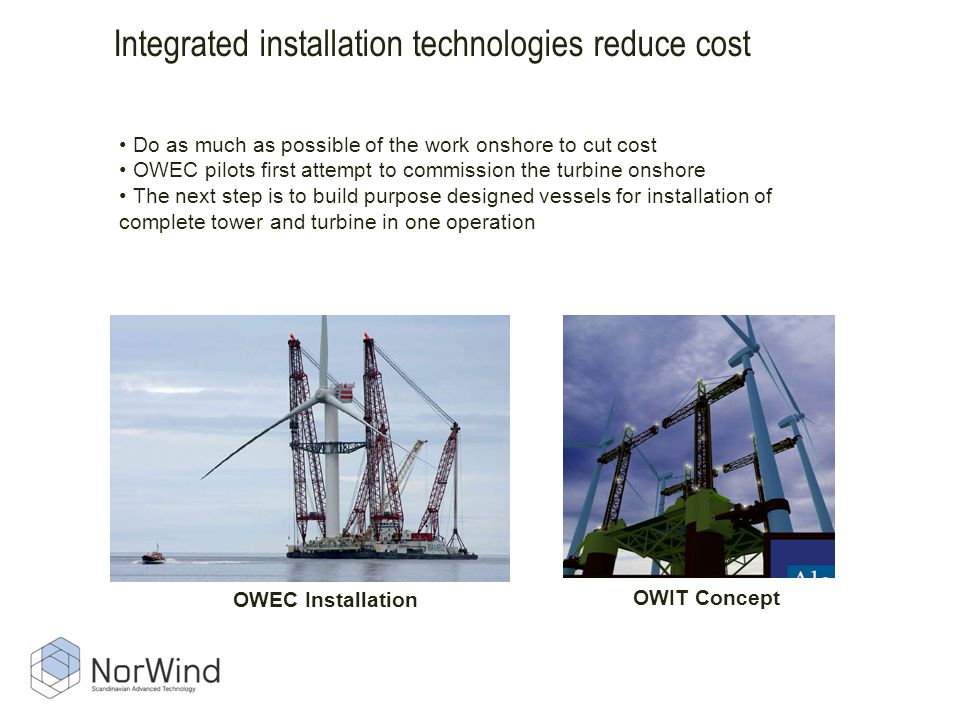 Integrated installation technologies reduce cost
