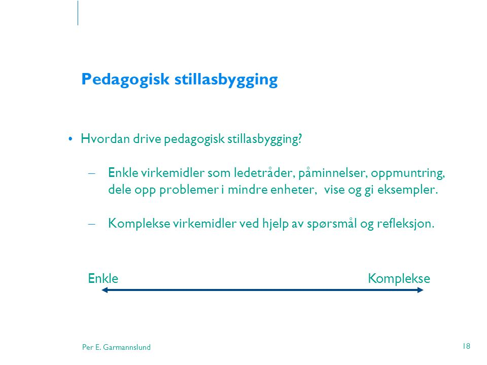 Pedagogisk stillasbygging
