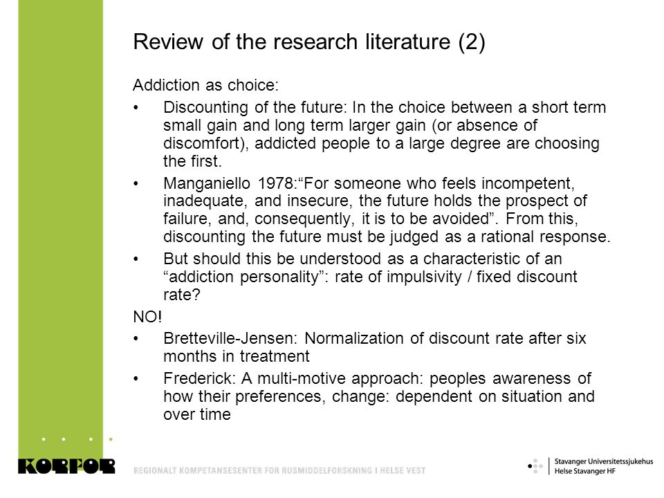 Review of the research literature (2)
