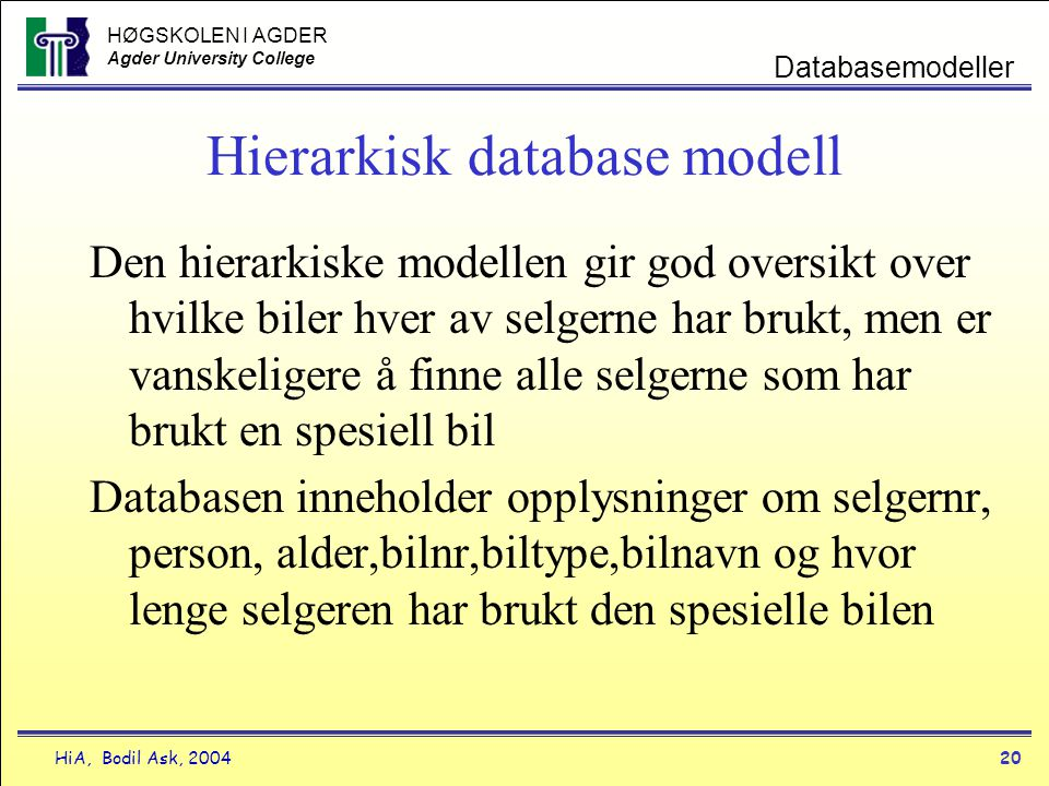 Hierarkisk database modell