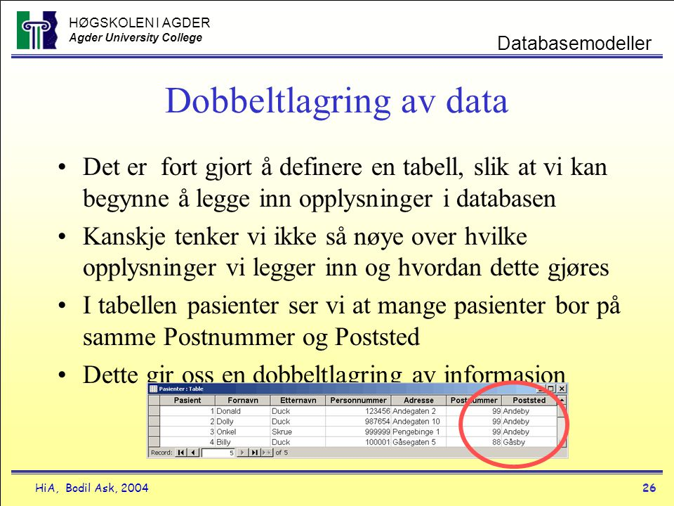 Dobbeltlagring av data