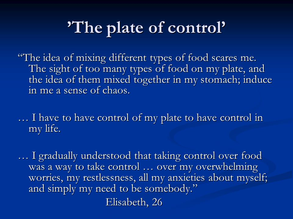 'The plate of control'