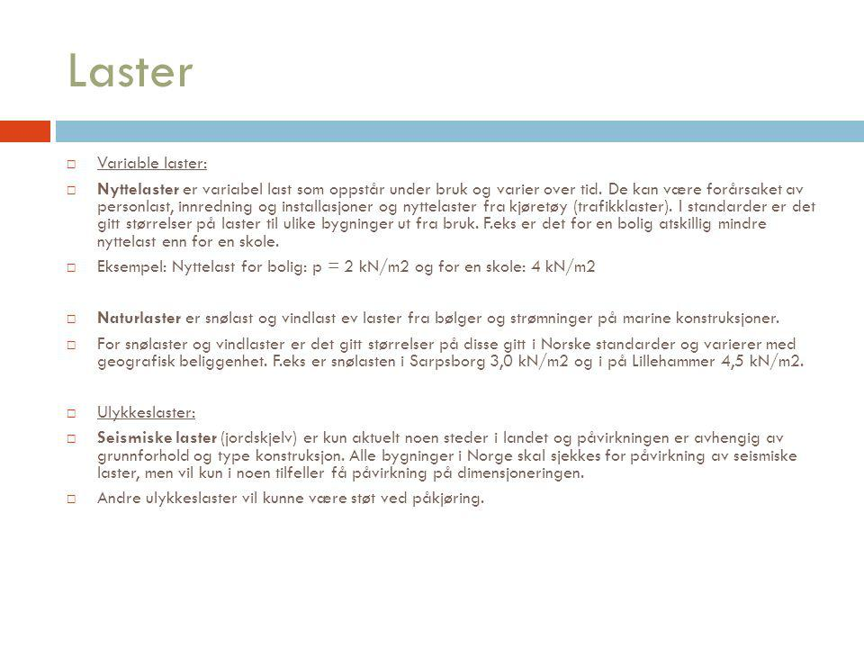 Laster Variable laster: