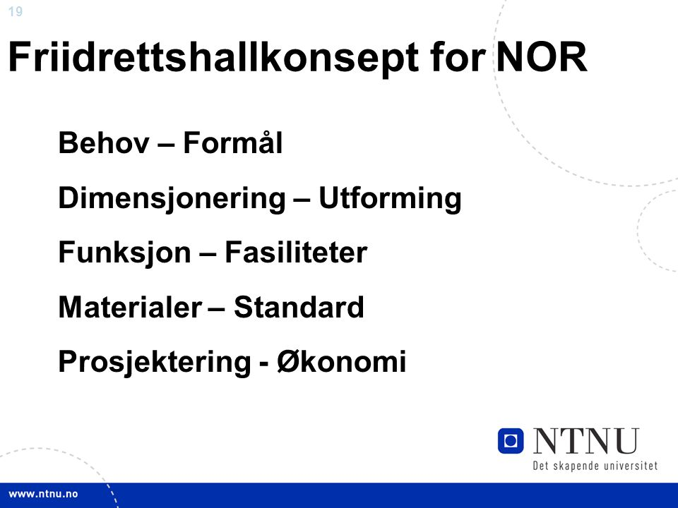 Friidrettshallkonsept for NOR