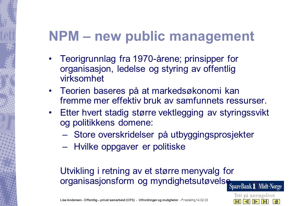 NPM – new public management