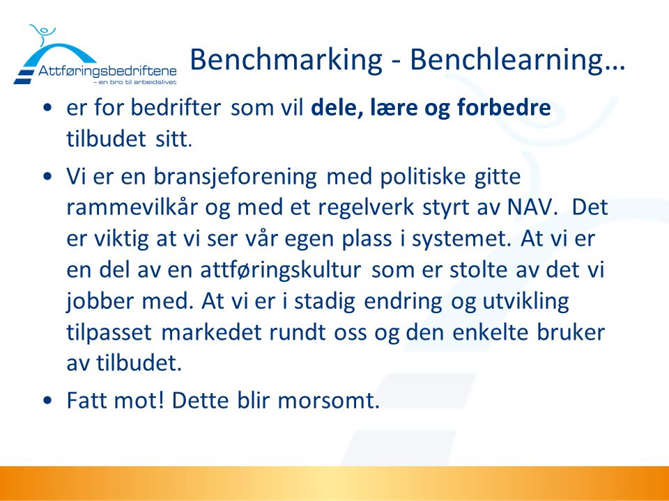 Benchmarking - Benchlearning…