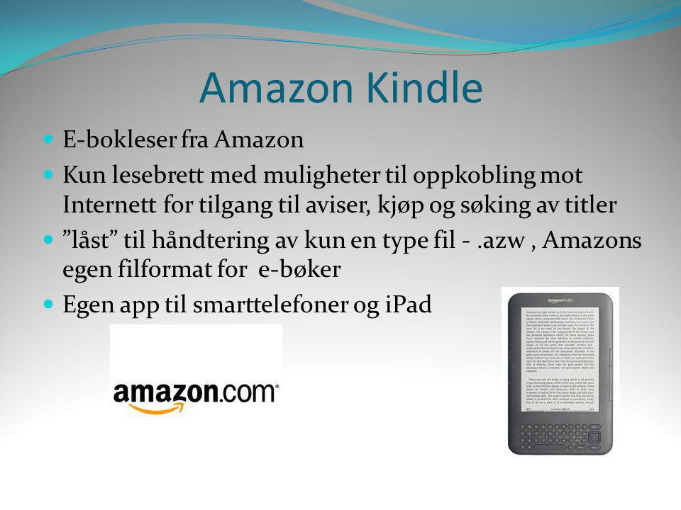 Amazon Kindle E-bokleser fra Amazon