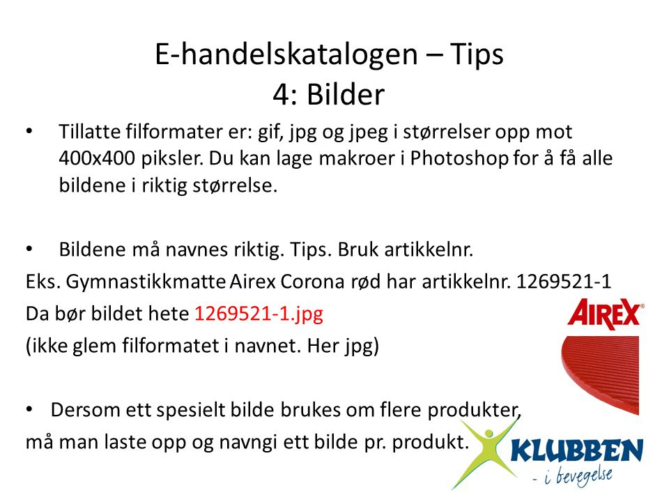 E-handelskatalogen – Tips
