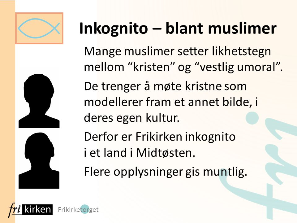 Inkognito – blant muslimer