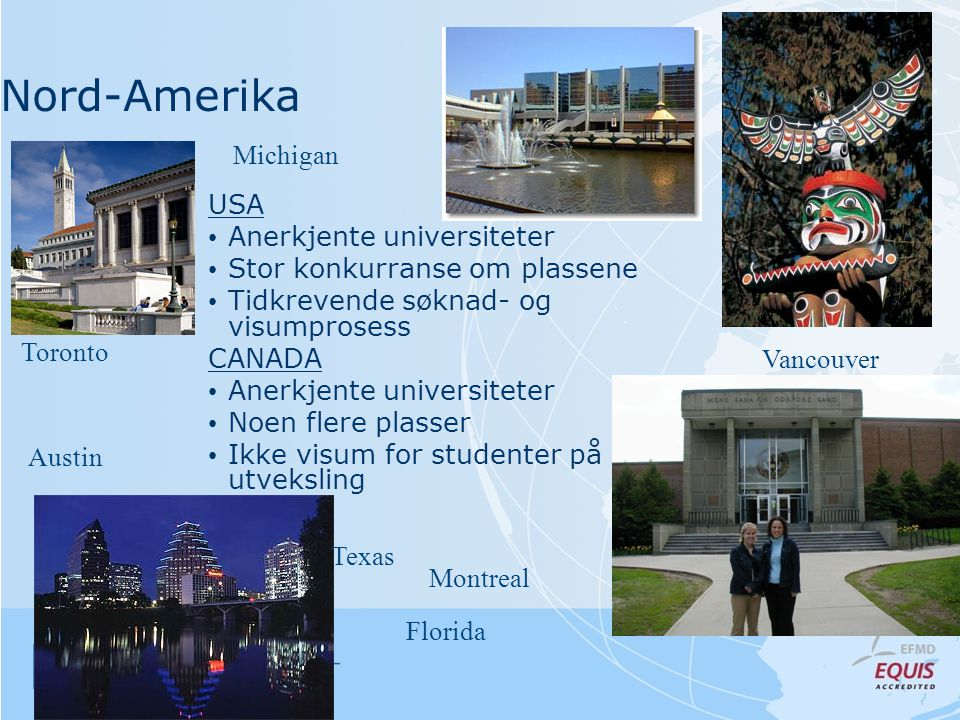 Nord-Amerika Michigan USA Anerkjente universiteter