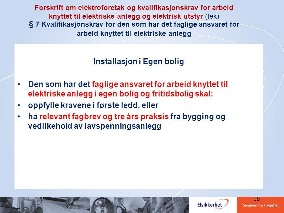 Forskrift om elektriske forsyningsanlegg